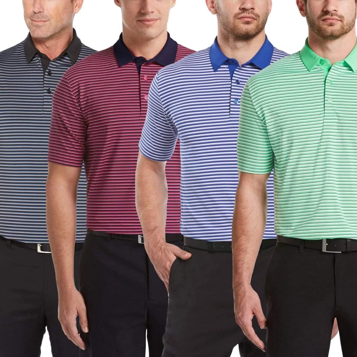 Callaway Men's 3-Color Stripe Golf Polo