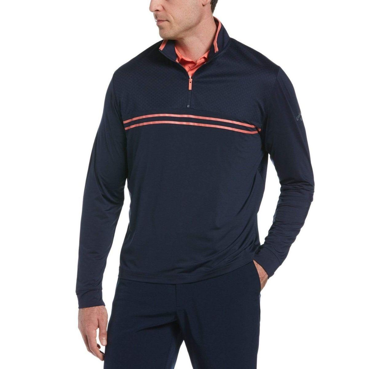 Callaway Men's Mixed Media Quarter Zip Pullover