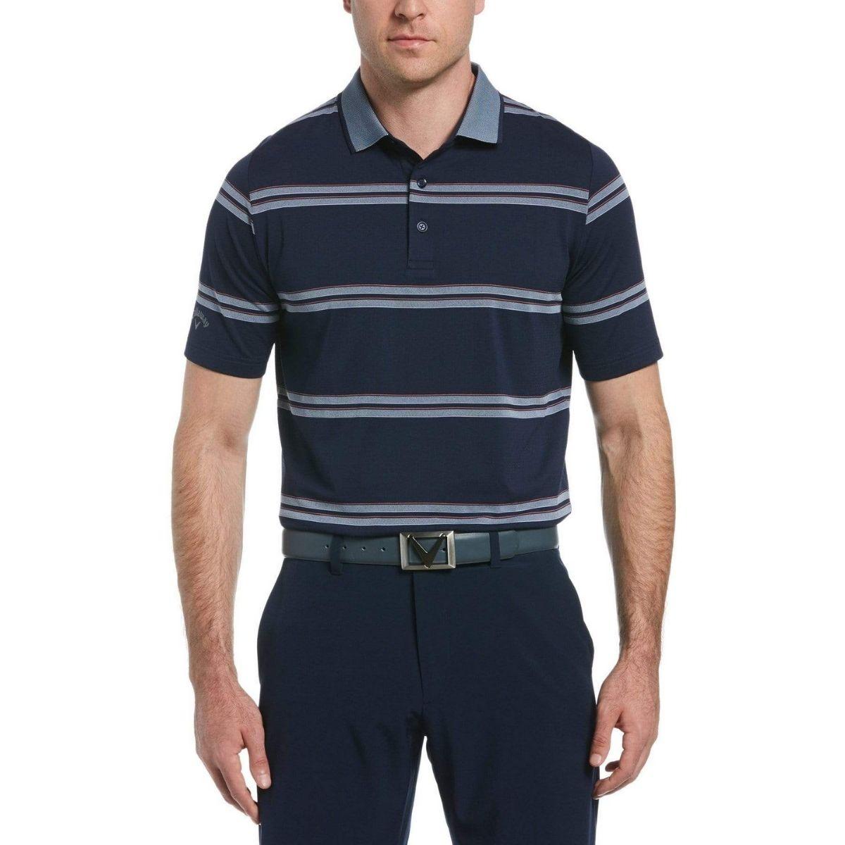 Callaway Men's Oxford Stripe Polo