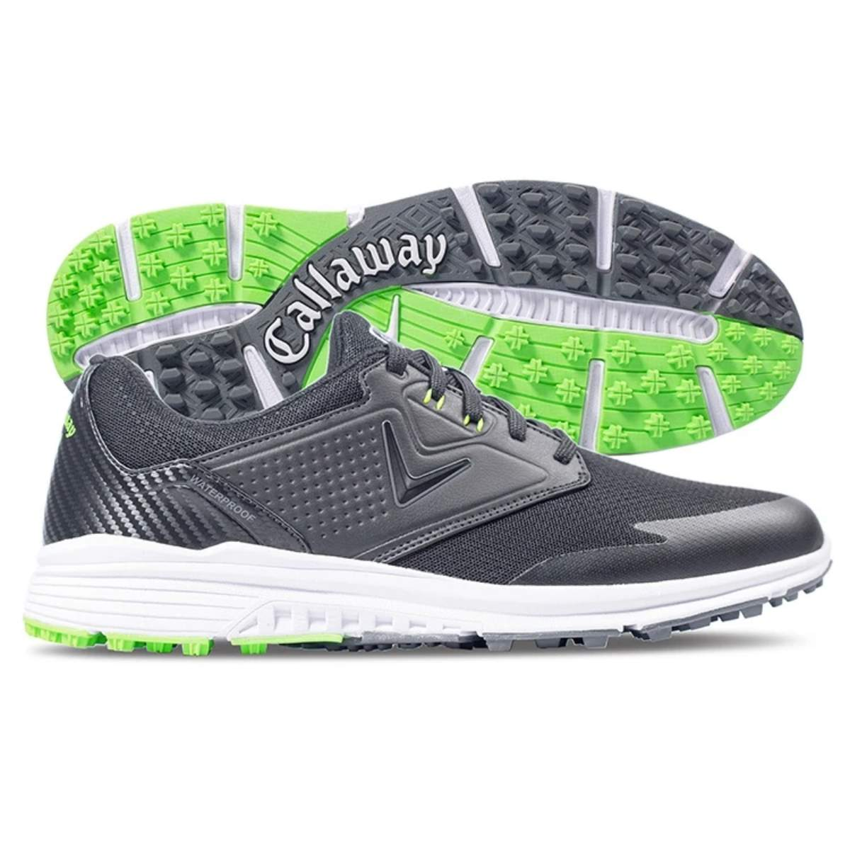 Callaway Men's Solana SL Golf Shoe - Black/Lime