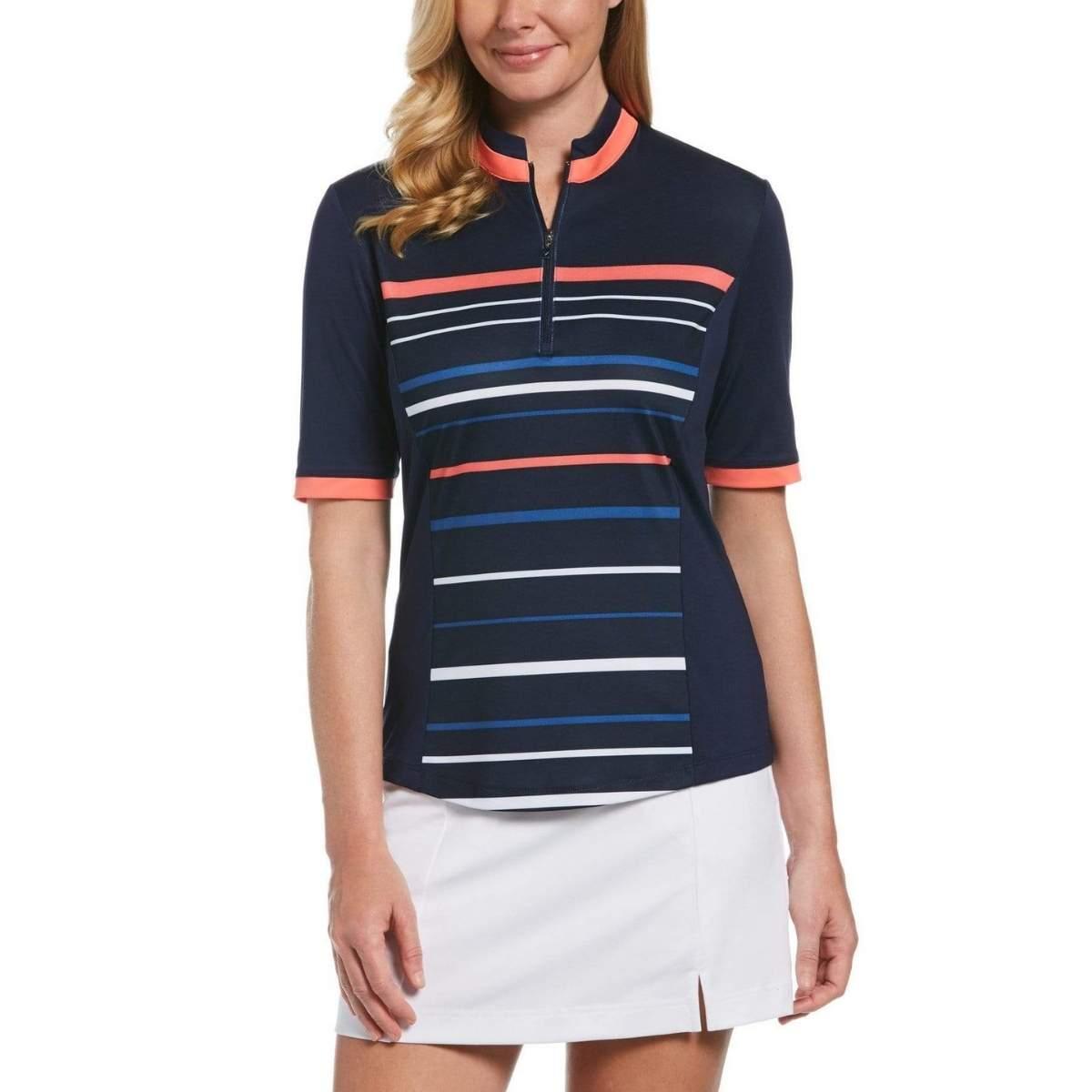 Callaway Women's Striped Print 1/2 Sleeve Golf Shirt
