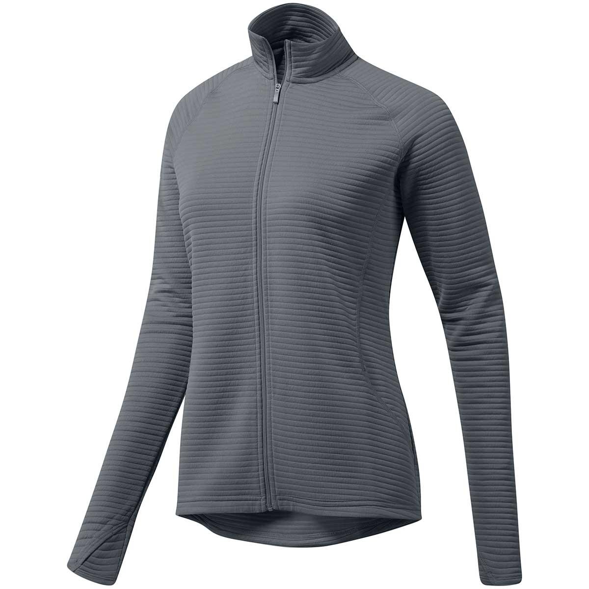 Adidas Women's Essential Text Full Zip Jacket - Grey