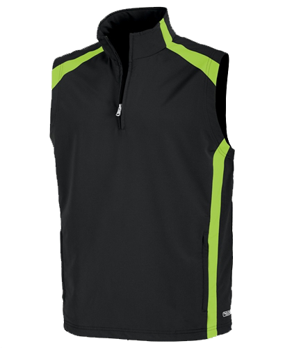 Charles River Apparel Men's Soft Shell Vest Black Lime