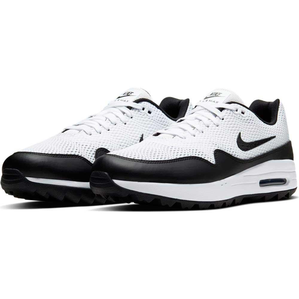 Nike Men's 2020 Air Max 1 G White/Black Golf Shoe