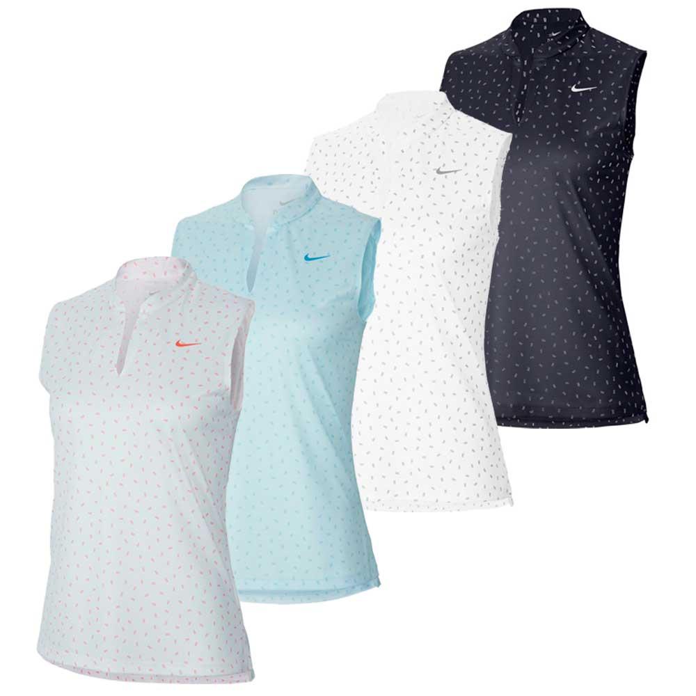 Nike Women's 2020 Dri-Fit Victory Sleeveless Print Polo