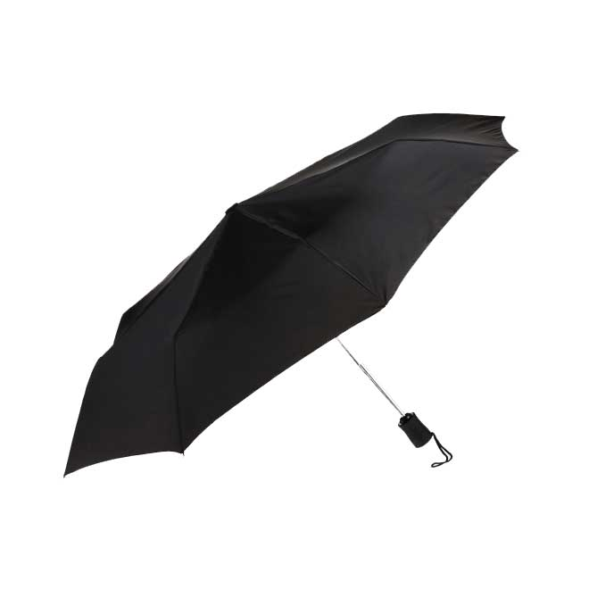 "Compact 42"" Black Umbrella"