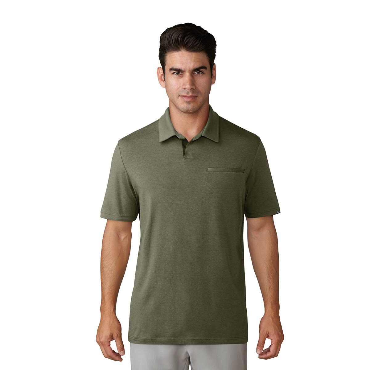 Adidas Adicross Johnny Collar Golf Polo - Olive