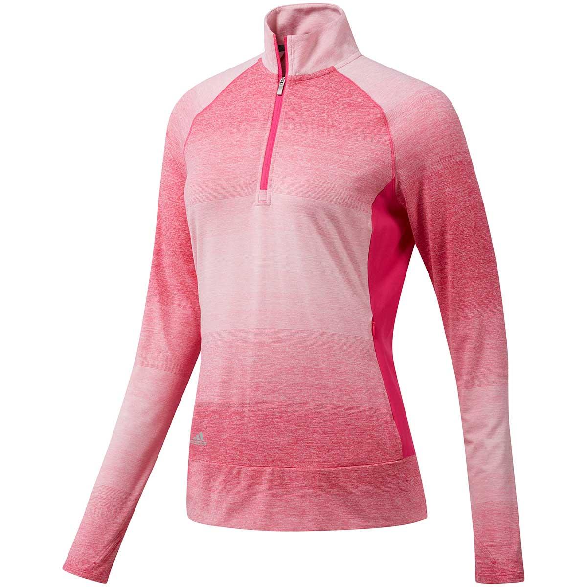 Adidas Women's Rangewear 1/2 Zip Shocking Pink Pullover