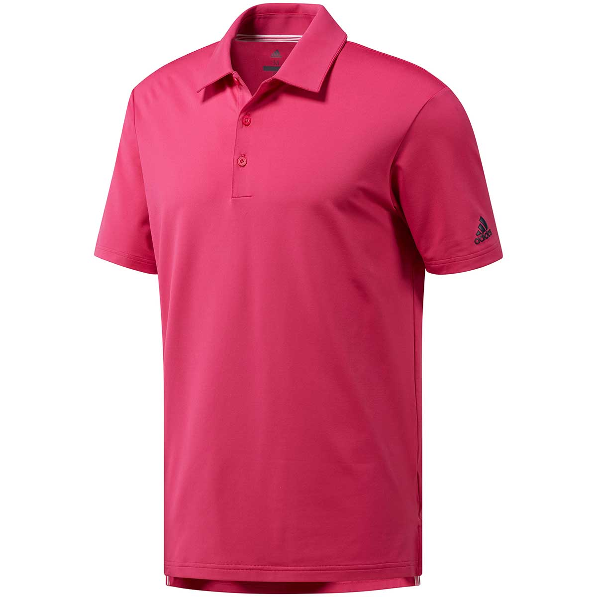Adidas Men's Ultimate Solid Real Magenta Golf Polo
