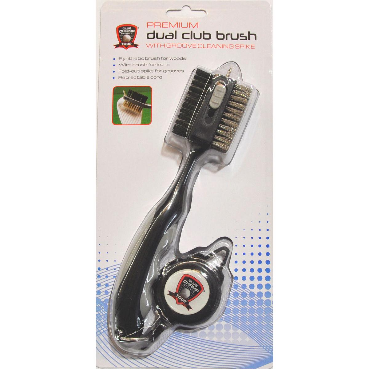 Club Champ Premium Dual Club Brush w/ Retractable Clip