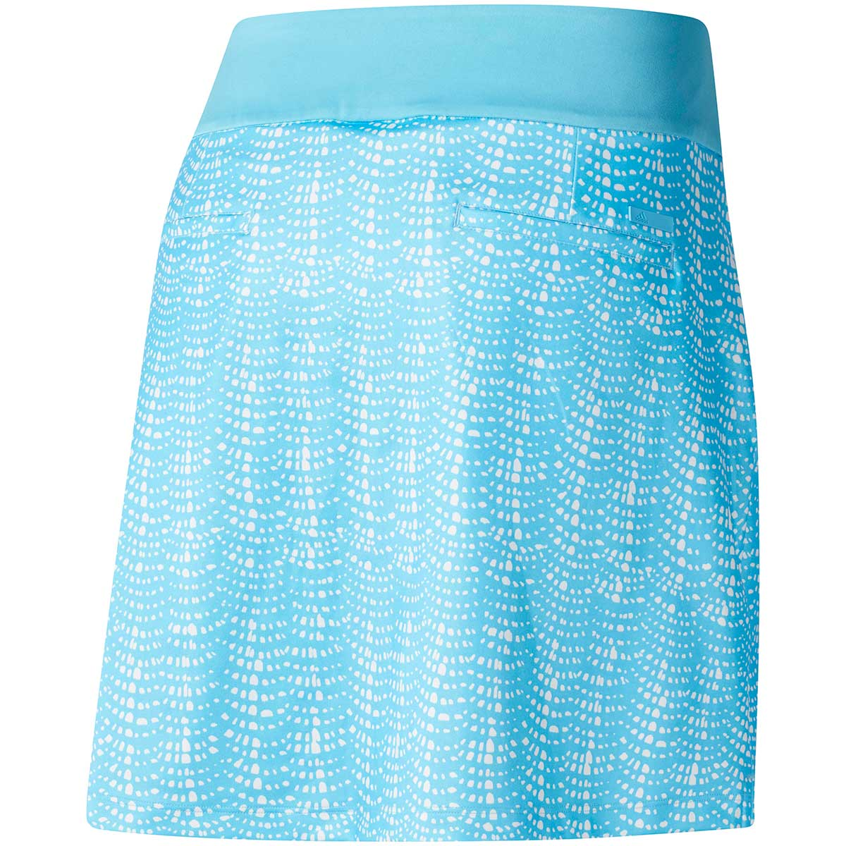 Adidas Women's Ultimate Printed Cyan/White Sport Skort