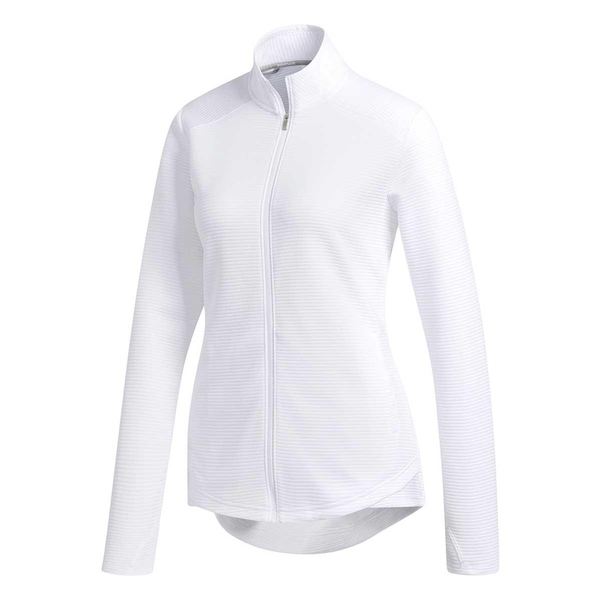 Adidas Women's Essentials Full Zip White Jacket