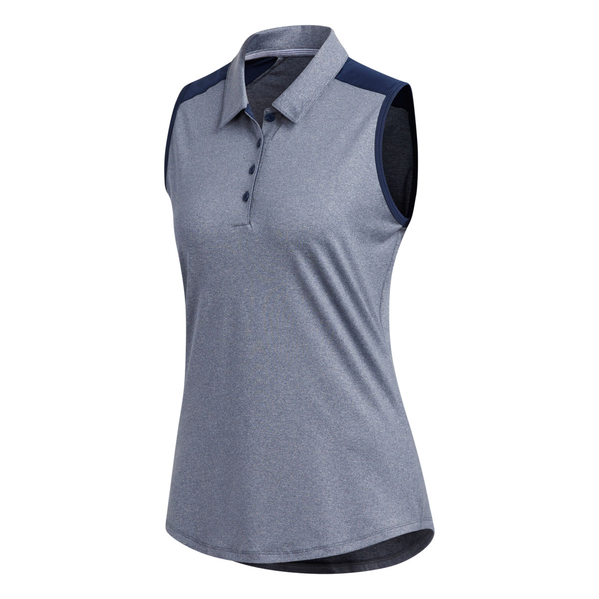 Adidas Women's Ultimate Heathered Sleeveless Night Indigo Polo