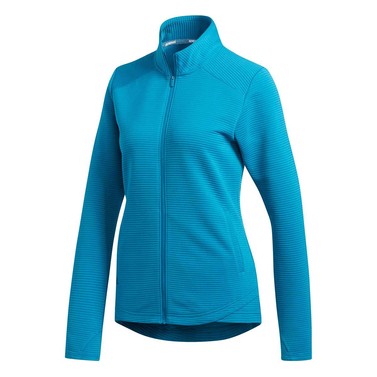 Adidas Women's Essentials Full Zip Teal Jacket
