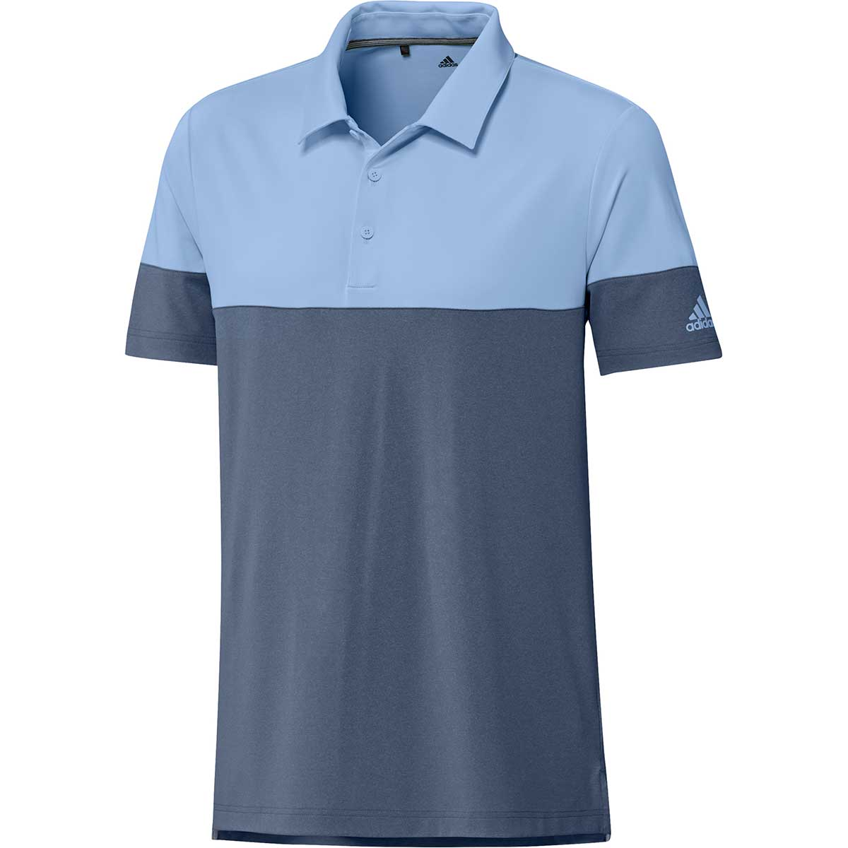 Adidas Men's Ultimate365 Heathered Blocked Tech Ink Polo