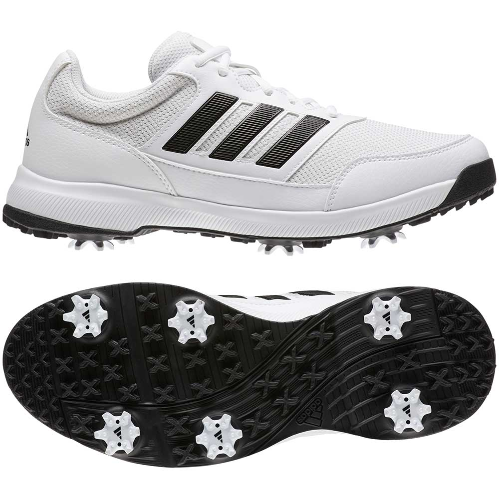 Adidas Men's Tech Response 2.0 White Golf Shoes