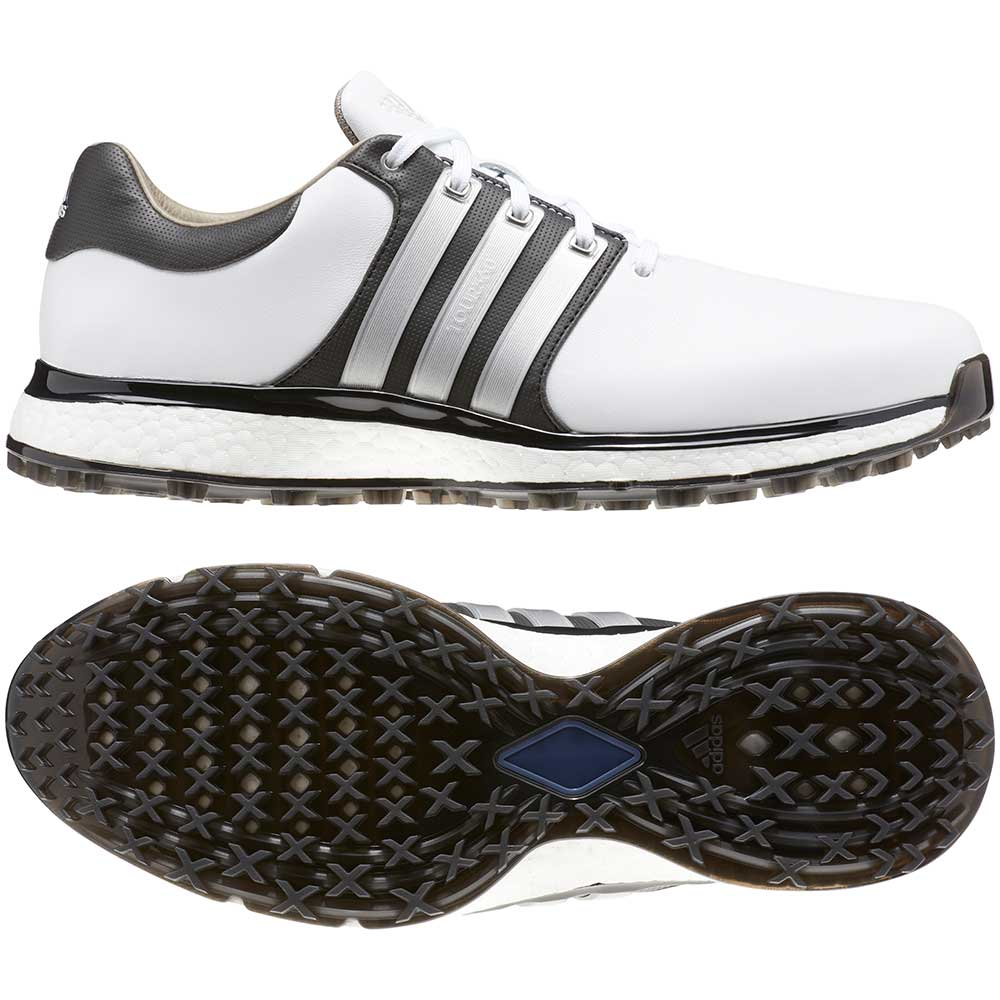 Adidas Men's Tour360 XT-SL White/Black Golf Shoes