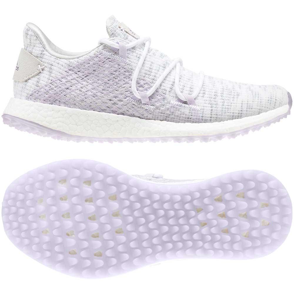 Adidas Women's Crossknit DPR White/Purple Golf Shoes