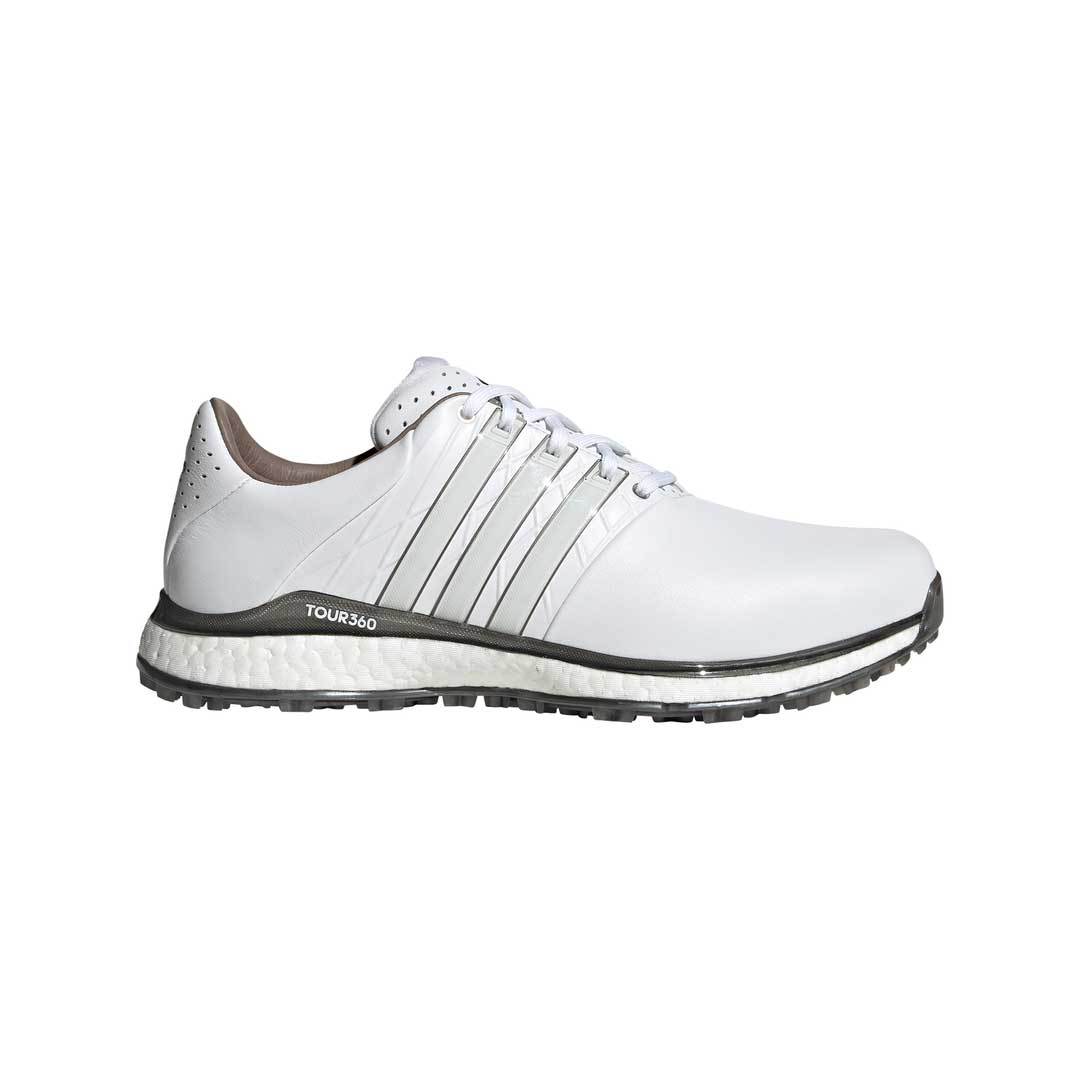 Adidas Men's TOUR360 XT-SL 2.0 White/Silver Spikeless Golf Shoes