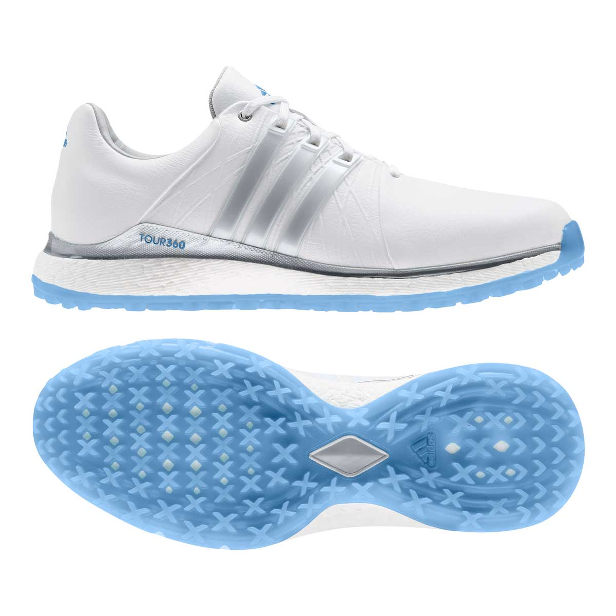 Adidas Women's TOUR360 XT-SL Spikeless White Golf Shoes