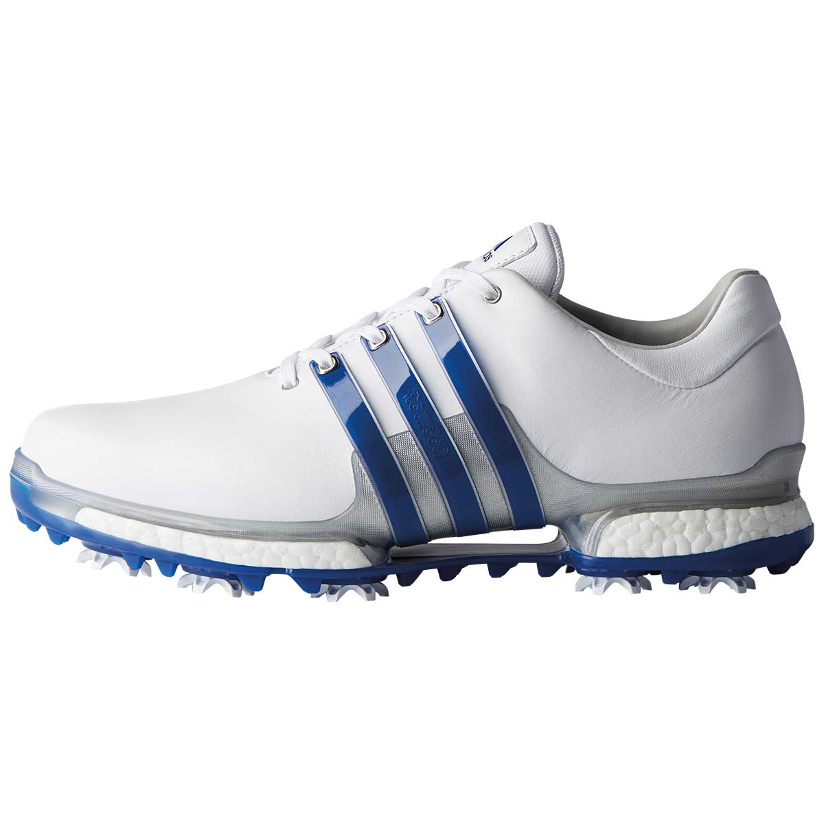 Adidas Tour 360 Boost 2.0 White/Blue Golf Shoes