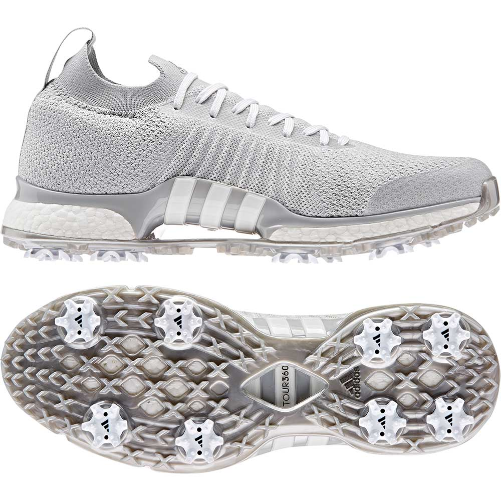Adidas Men's Tour360 XT Primeknit Grey/Silver Golf Shoes