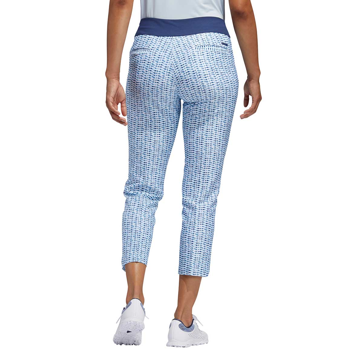 Adidas Women's Printed Pull-On Sky Tint Ankle Pants