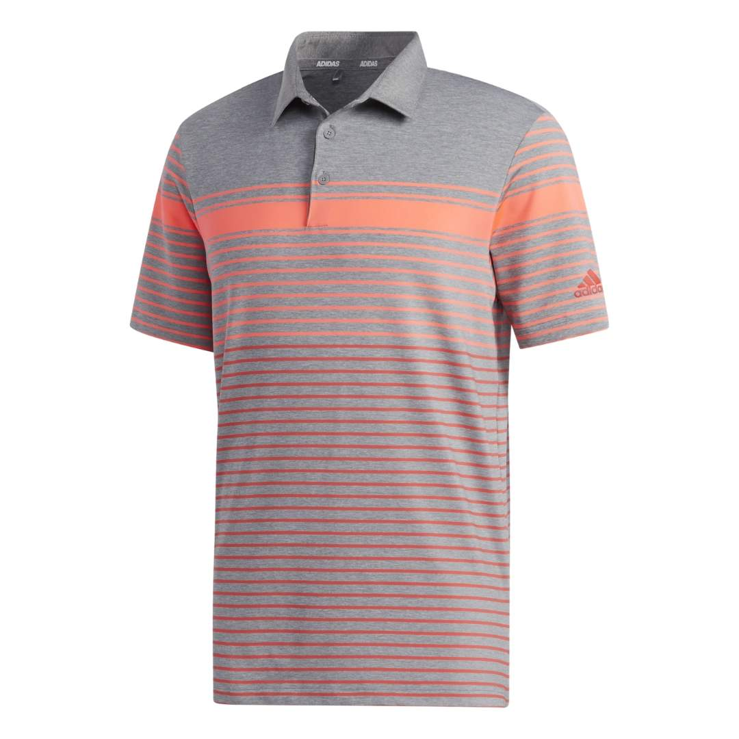 Adidas Men's Ultimate365 Engineered Heathered Flash Red/Coral Polo