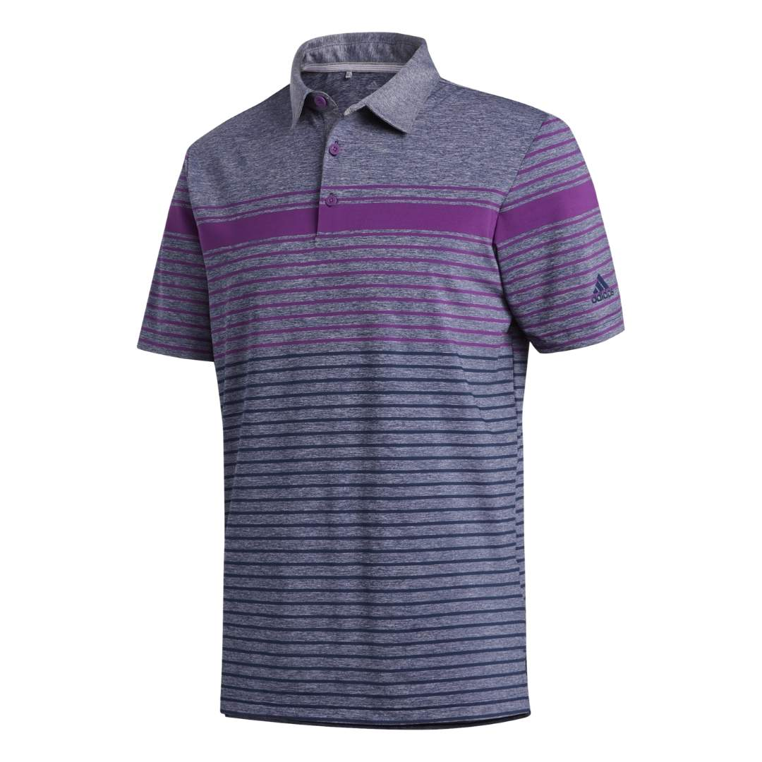 Adidas Men's Ultimate365 Engineered Heathered Glory Purple Polo