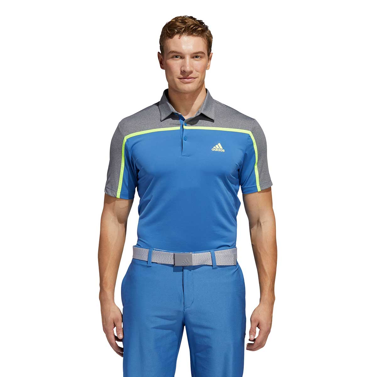 Adidas Men's Ultimate365 Colorblock Trace Royal Polo
