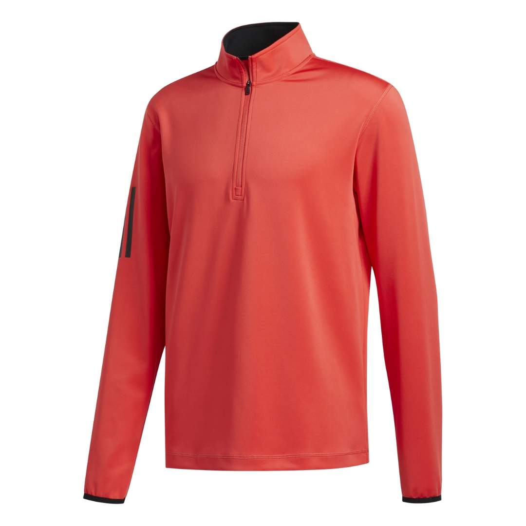Adidas Men's 3-Stripe Layering Real Coral Pullover