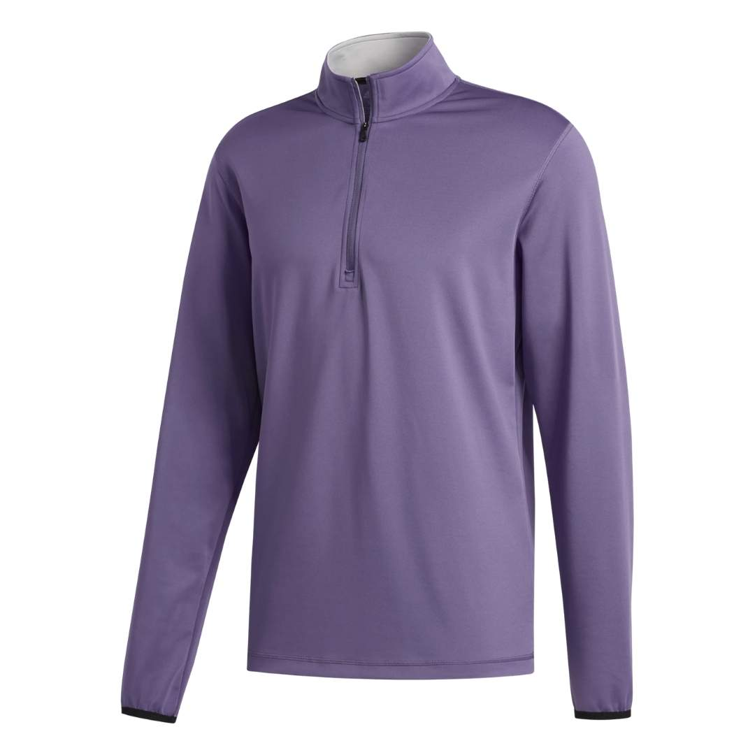 Adidas Men's 3-Stripe Layering Real Tech Purple Pullover