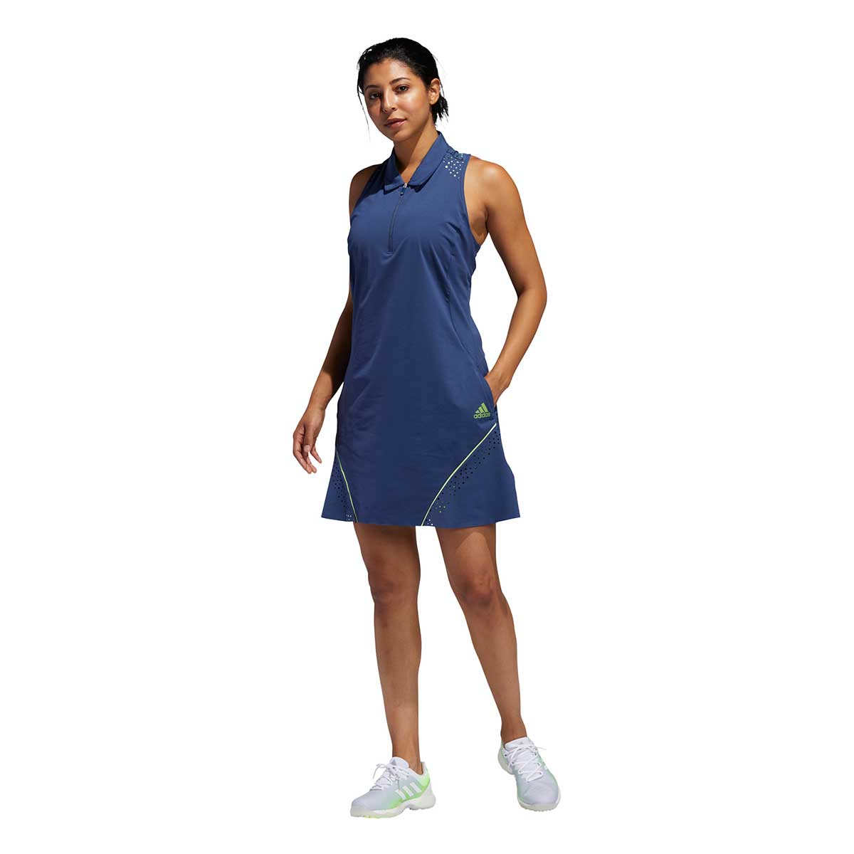 Adidas Women's Perforated Color Pop Tech Indigo Dress