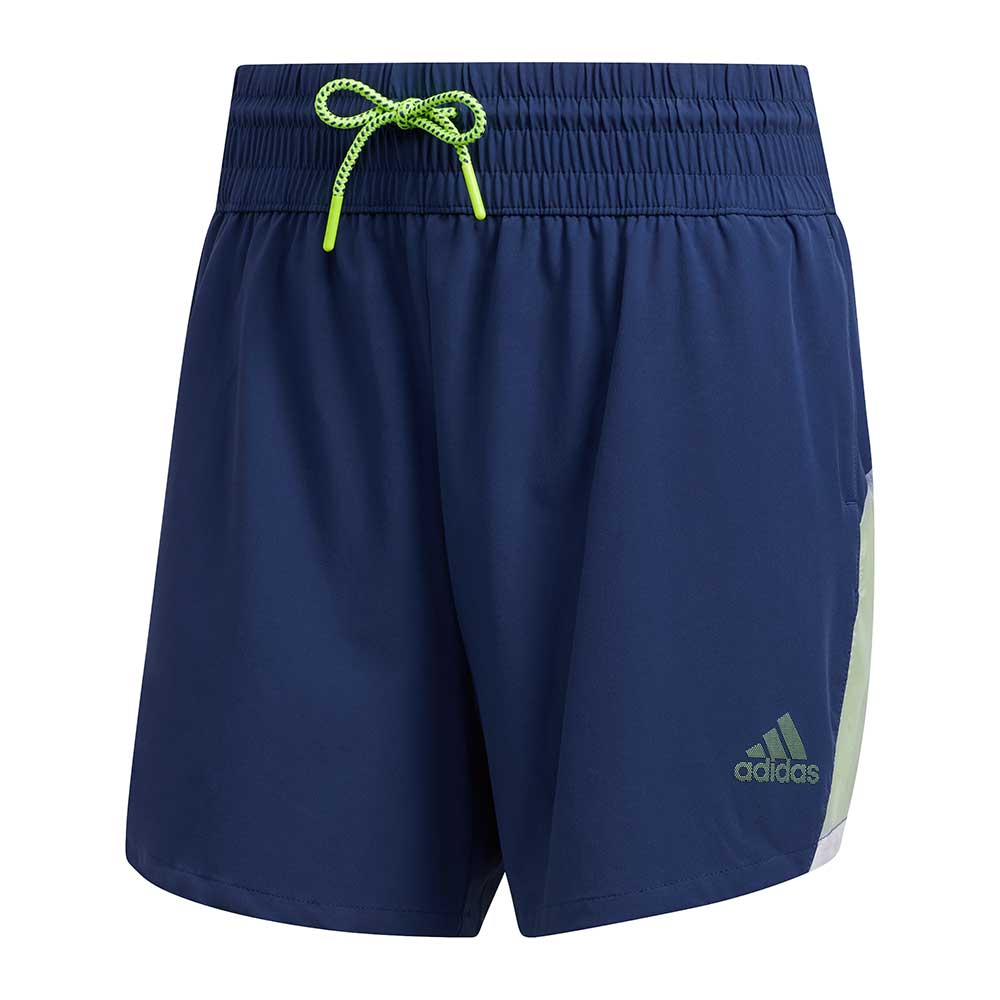 Adidas Women's Pull-On Colorblock Tech Indigo Shorts