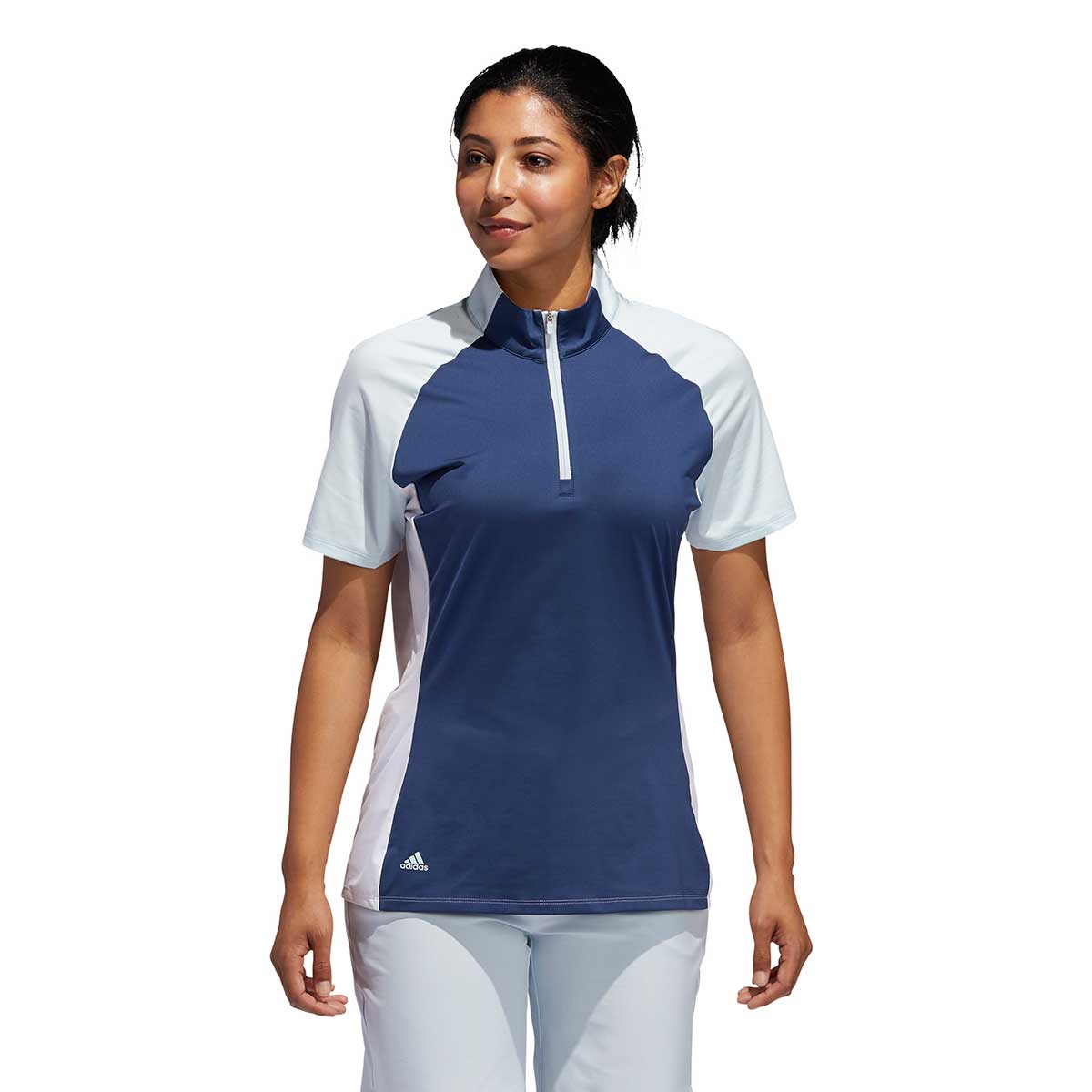Adidas Women's Colorblock Tech Indigo Polo