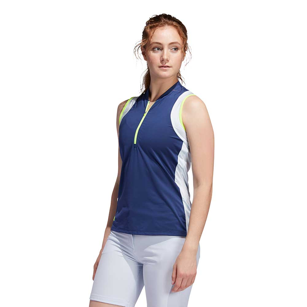 Adidas Women's Colorblock Sleeveless Tech Indigo/Sky Polo