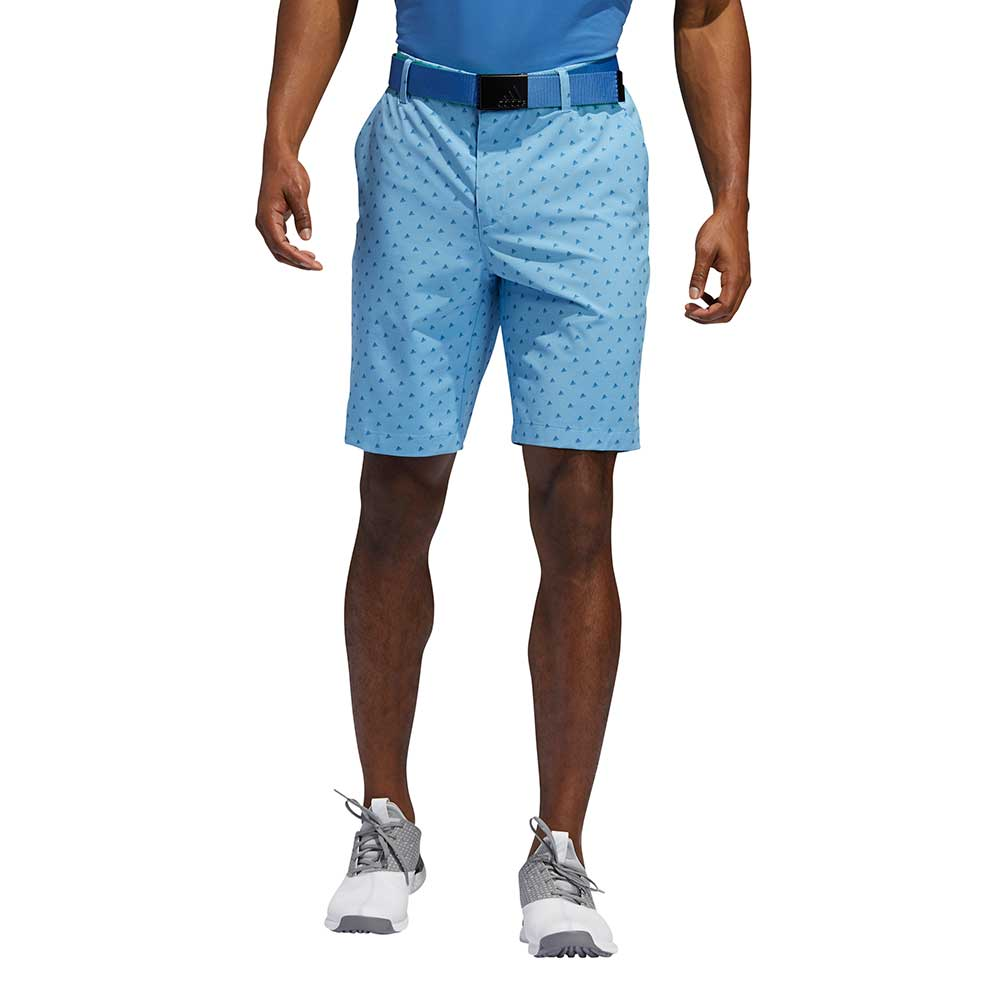 Adidas Men's Ultimate365 Badge of Sport Novelty Light Blue Shorts