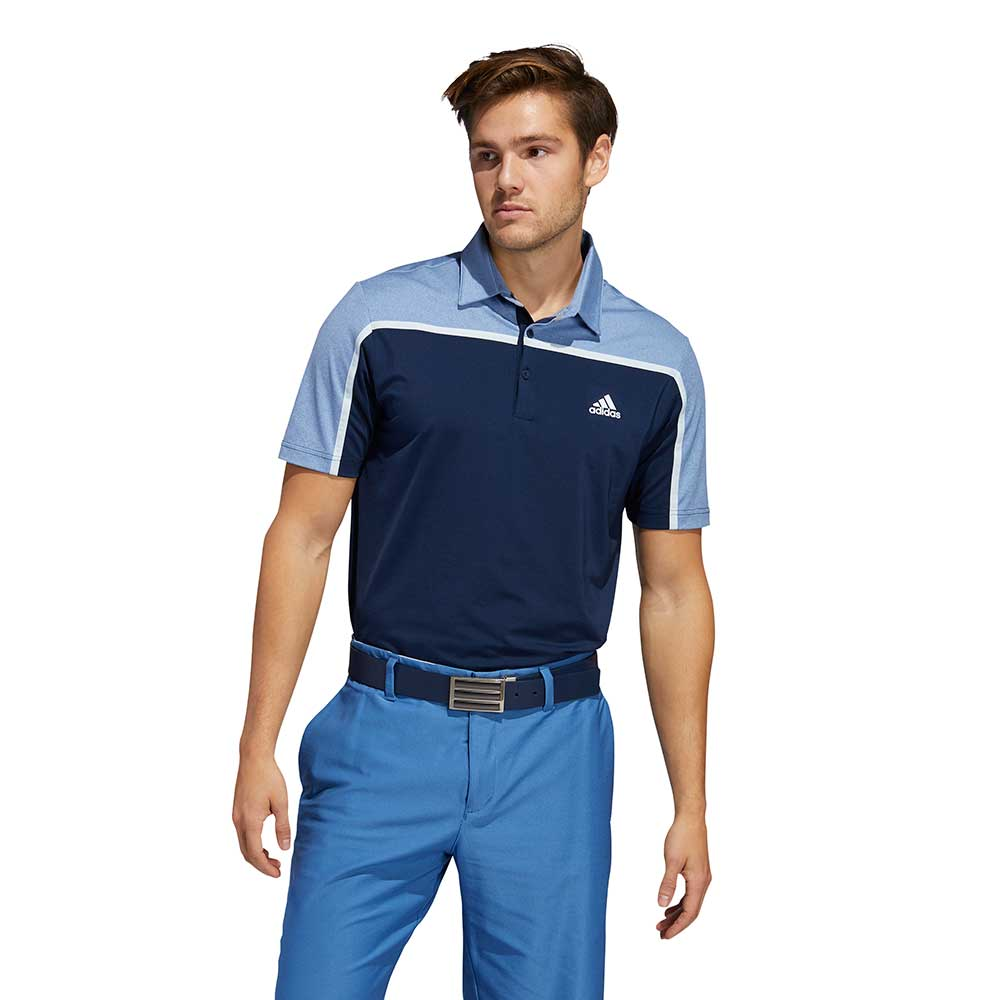 Adidas Men's Ultimate365 Colorblock Collegiate Navy Polo