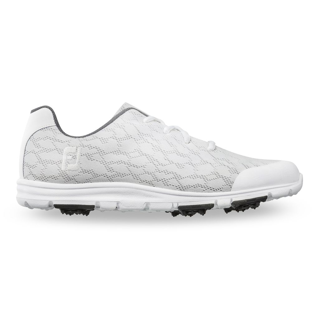 FooJoy Women's enJoy White Golf Shoes - Previous Season #95712