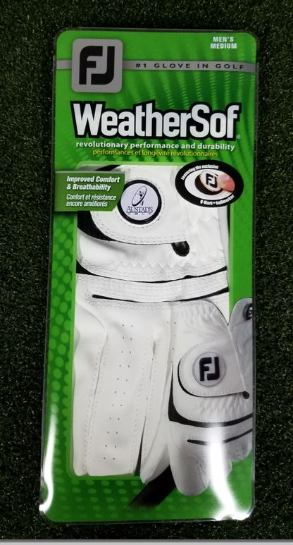 FootJoy Austad's Custom WeatherSof Golf Glove – Mens Left Hand Cadet