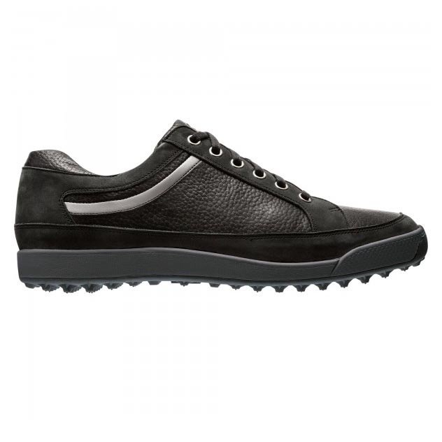 FootJoy Contour Casuals Black Spikeless Golf Shoe - Closeout Style 54356
