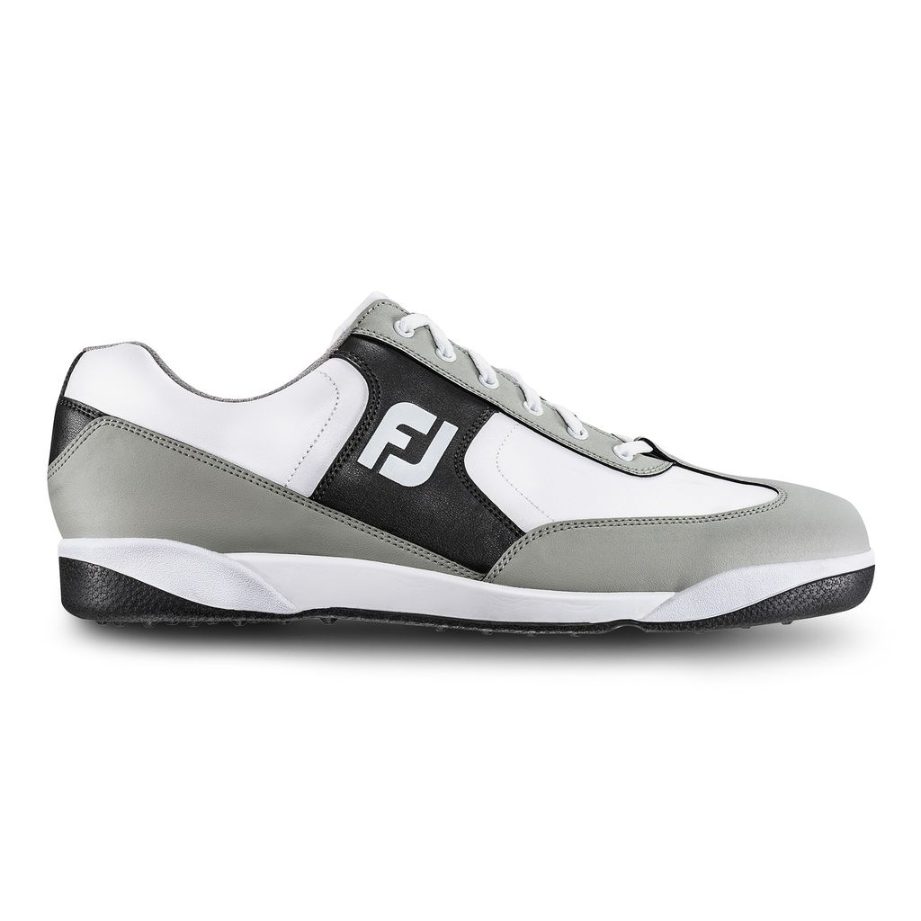 FootJoy GreenJoys White/Black Golf Shoes – (FJ Style# 45332)