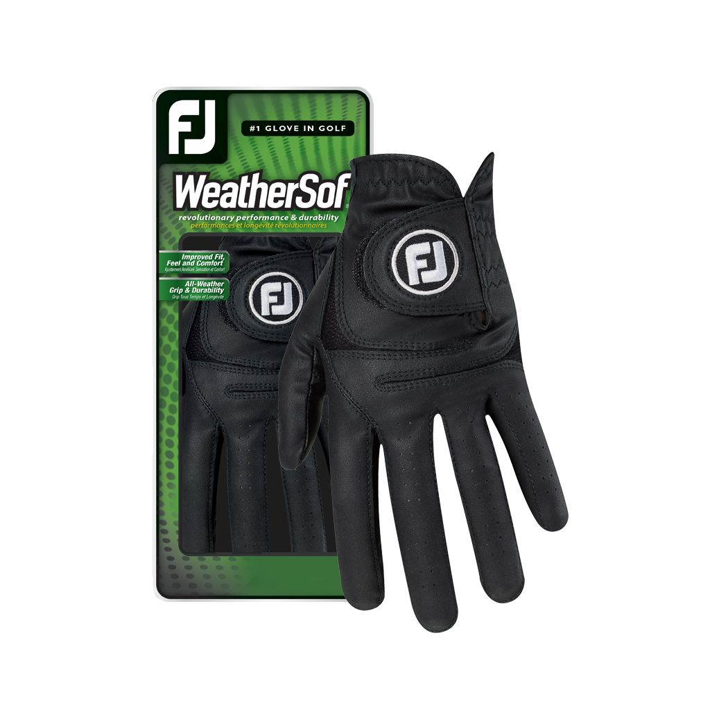 FootJoy Men's Black WeatherSof Golf Glove - Left Hand Cadet