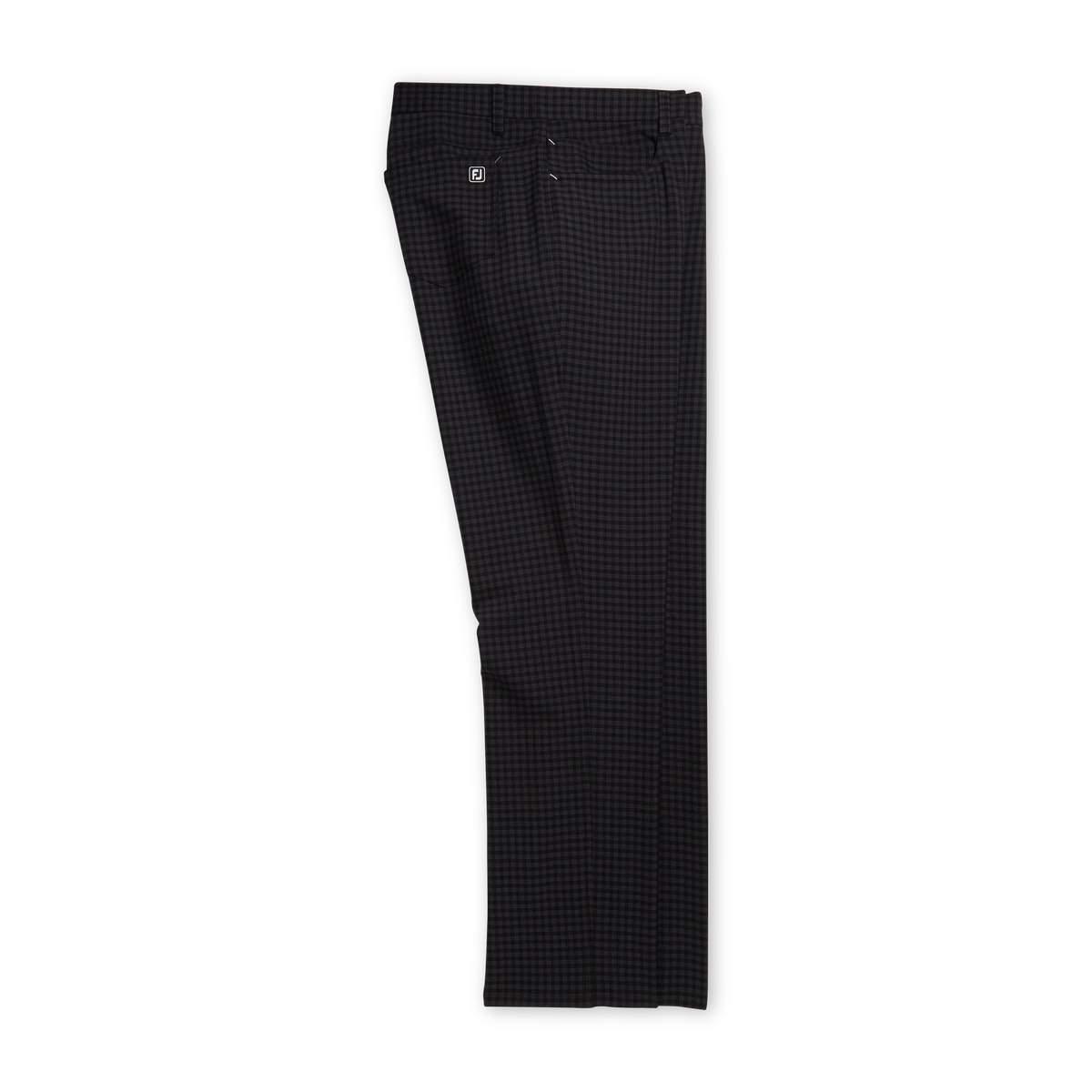 FootJoy Men's 5-Pocket Plaid Charcoal Pants