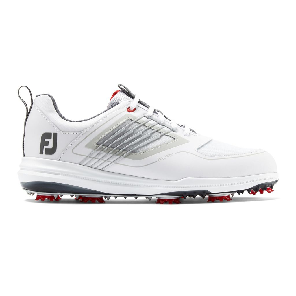 FootJoy Men's FJ Fury White/Grey Golf Shoes