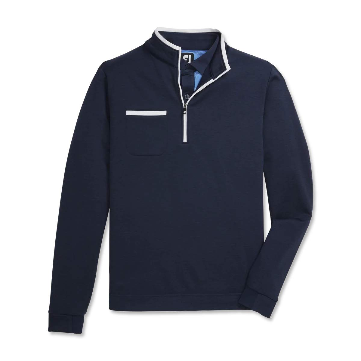 FootJoy Men's Fleece 1/4 Zip Contrast Trim Navy Pullover