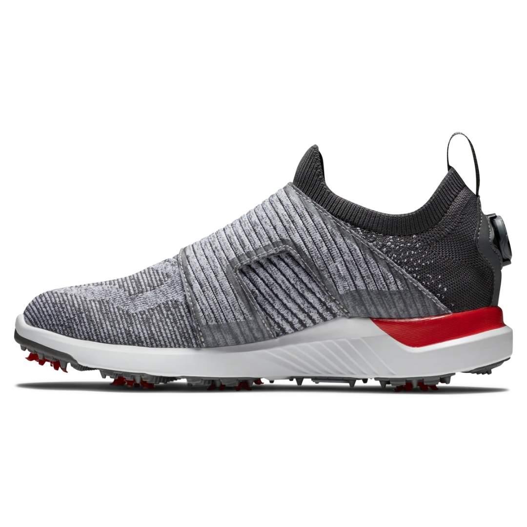 FootJoy Men's Hyperflex BOA Grey/Red Golf Shoe - Style 51083