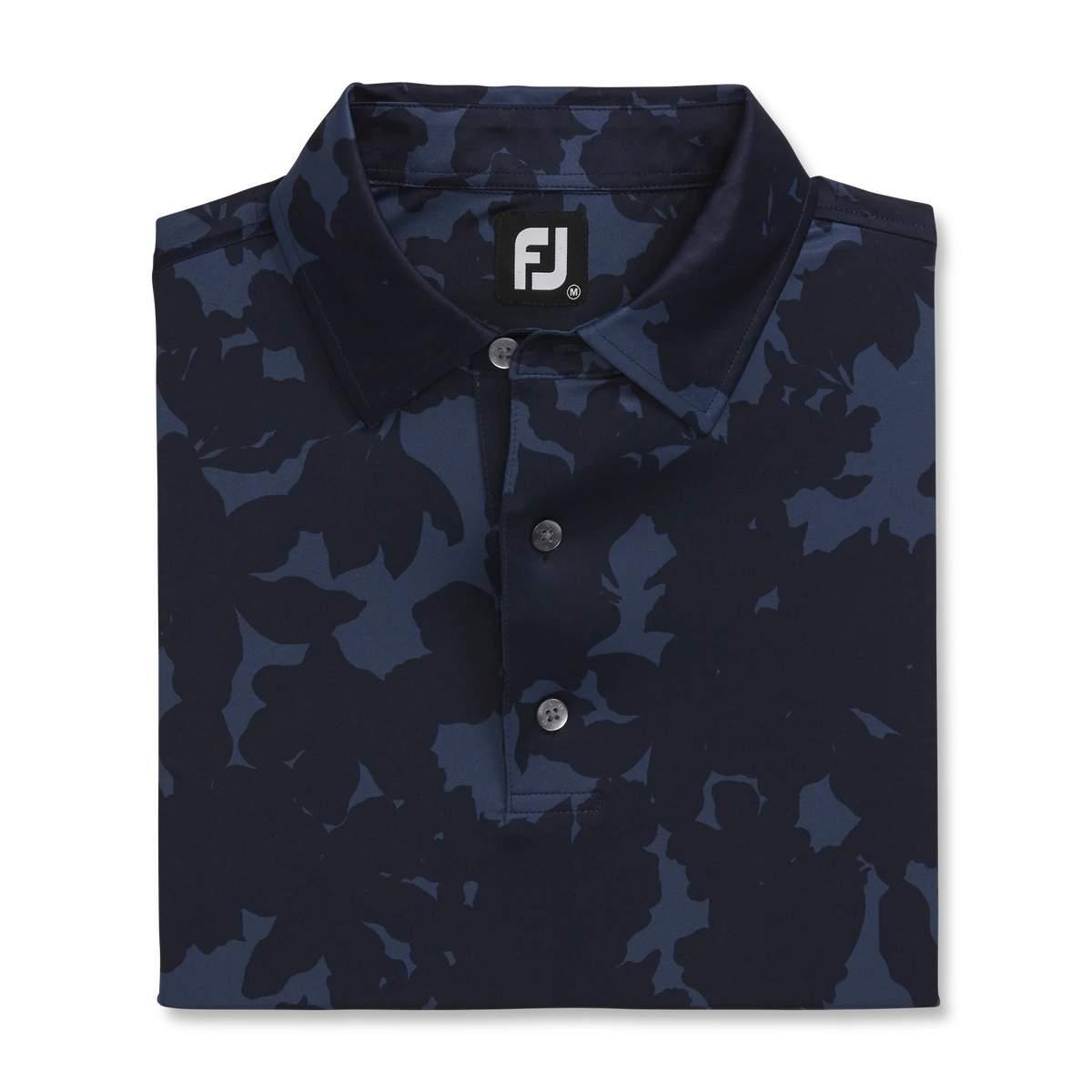 FootJoy Men's Lisle Camo Floral Print Navy Polo