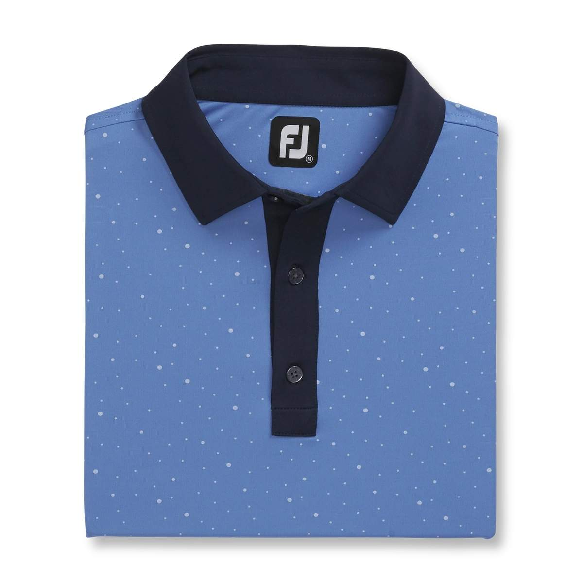 FootJoy Men's Lisle Multidot Print Lagoon/Navy Polo