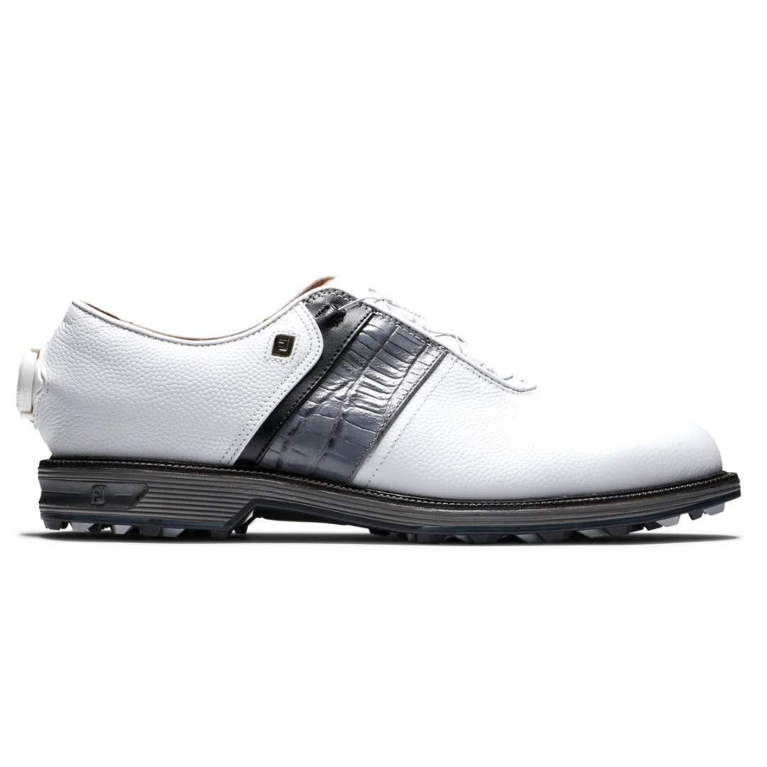 FootJoy Men's Premier Series BOA Packard White/Black Golf Shoe - Style 53921